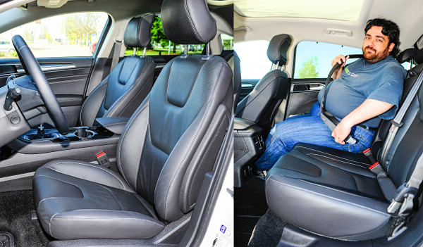 Nagyok az ülések, de rövid a légzsákos hátsó öv alsó szára. A panorámatető miatt a fejtér is kicsi