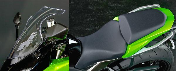 Három fokozatban állítható a szélvédő. Komfortosabb üléseket érdemelt volna a Z1000SX