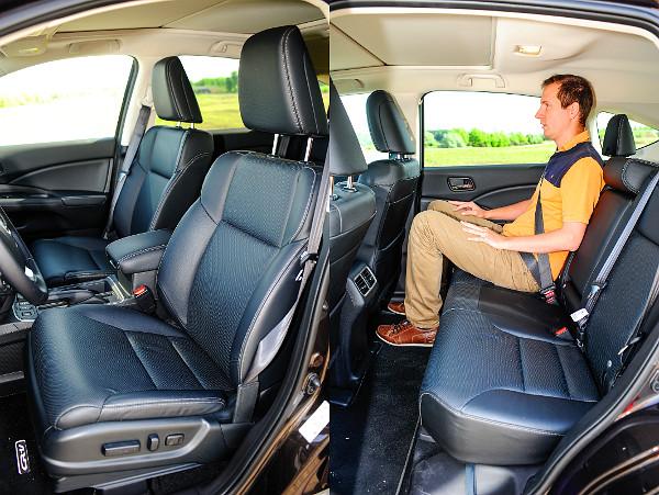 Gigászi a CR-V helykínálata, de kár, hogy a hátsó ülőlapok rövidek