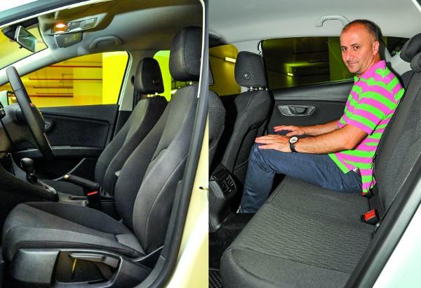 Mélyre engedhető a vezetőülés, s hátul is korrekt hely marad, a Style szinten pedig szellőző is van itt