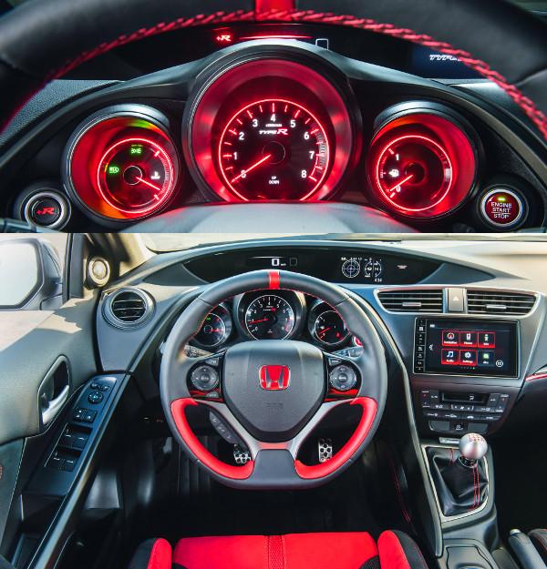 A +R menü gyorsabbá teszi a futómű és a motor reakcióit, és pirosabbá a műszerfalat