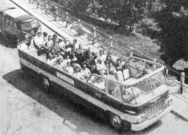 Ikarus-620-as típusból kialakított városnéző autóbusz