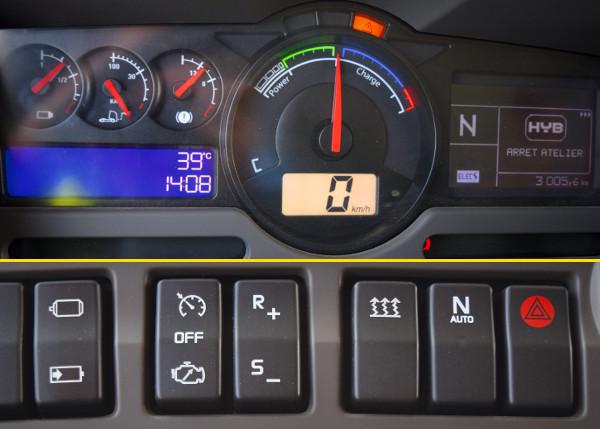 Három üzemmód: tisztán elektromos, automatikusan, igényvezérelten bekapcsoló, vagy állandóra kapcsolt dízel utántöltés