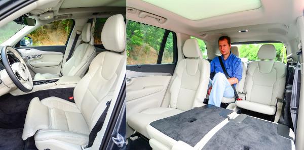 Maximális kényelem: 238 000 forintért masszázsfunkciós első ülések kényeztethetnek. 170 cm-es magasságig komfortosak a harmadik sorban lévő ülések (felára 490 000 forint)