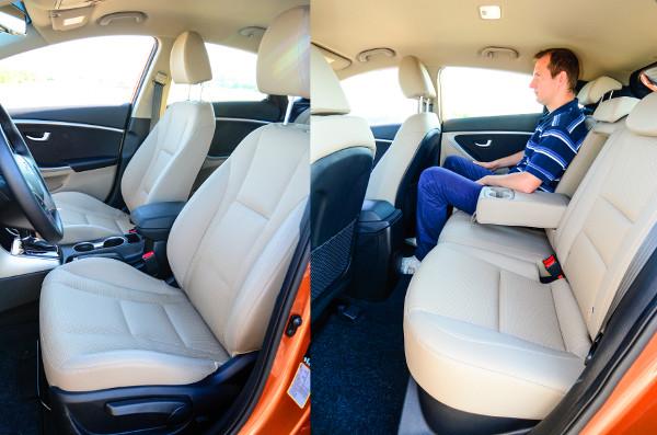 Négy felnőttnek kifejezetten kényelmes és tágas az i30-as