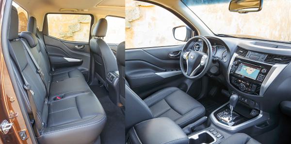 Mint egy szabadidő-autó: simán letagadhatná a Navara, hogy pick-up. Bőven van hely a Double Cab hátsó sorában, de az ülőlapok rövidek