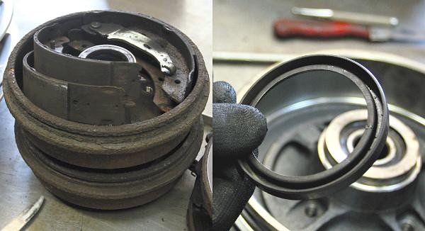 A leszerelt régi fékalkatrészek olajtól szennyezettek. Ez a gyűrű segíti a blokkolásgátlót a forgásjelek vételében. Fotó: Dombóvári Mihály