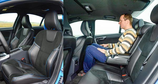Komfortos és határozott oldaltartású ülések? A Volvo megcsinálta! Érződik, hogy az S60-as a kisebb középkategóriások közé tartozik
