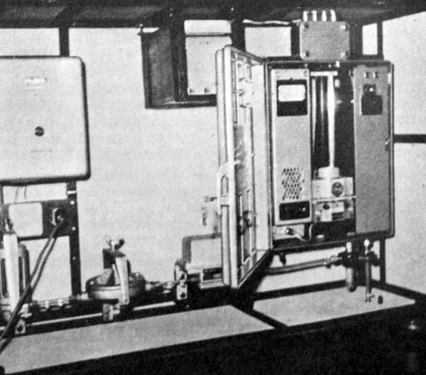 URAS-1 rendszerű infra gázelemző készülék az ATUKI laboratóriumában
