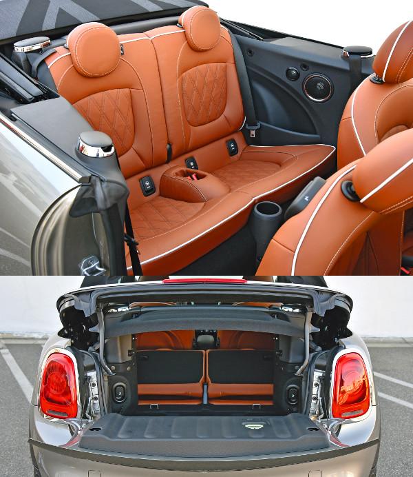 Kicsiknek ideális a két ledönthető hátsó ülés. Könnyen hozzáférhető az apró csomagtartó