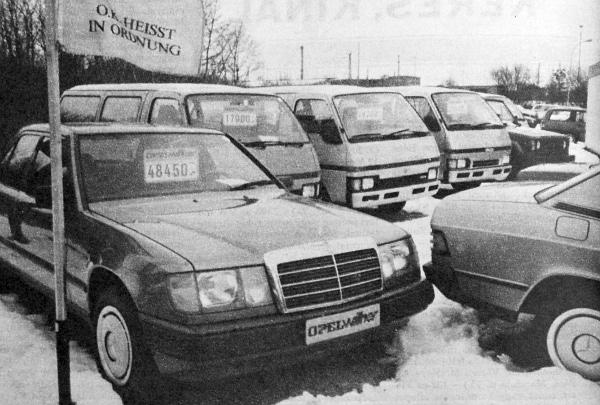 Az Opel használtautó-telepe. Bármilyen típust megvesznek