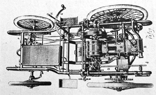 Az ősrégi Peugeot kocsira kellett gondolnunk, amikor szóba került a padló alatti motor