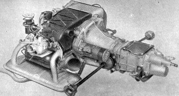 A Fiat-500 Giardiniera kéthengeres léghűtéses motorja annak eredményeként, hogy a hengereket oldalra fektették, az erőátviteli szerkezettel együtt a kocsi farában, a padló alatt elhelyezhető