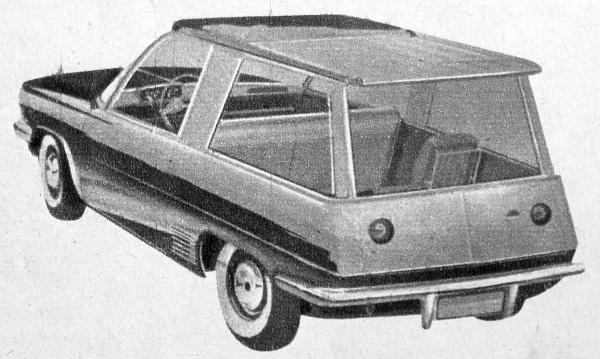 """Azt pedig, hogy a Motor Revue """"ideális autó"""" terve és Finta László karosszériája között valóban sok-e a közös vonás, döntsék el olvasóink, itt a német kocsi rajza"""