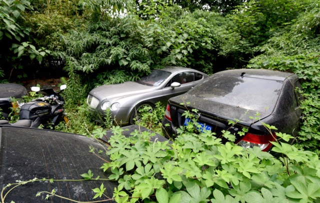 A kínai autótemető (Fotó: thesun.co.uk)