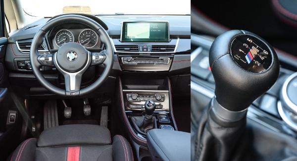 Mély üléspozíciónál sokat takar a HUD plexije. Precízen kapcsolható a kézi váltó, BMW-s az összhatás. Fotó: Hilbert Péter