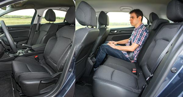 Sportos a vezetési pozíció, puha, mégis jól tart az ülés. Kompaktokra jellemző a hátsó térkínálat, kicsik az ablakok