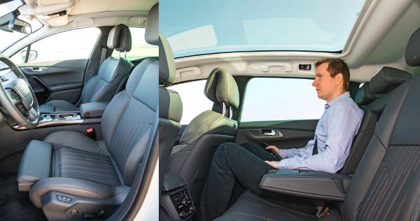 Az állítható ülőlapú ülések alapárasak. Helyből hátul sem szenvednek hiányt az utasok