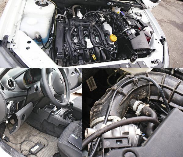 Renault-kat idéz a műanyag szívósor, a blokk a Samaráé, a hengerfej 16 szelepes. Nyest látogatása okozott üzemzavart, a meglazult csatlakozó miatt vészprogramba kapcsolt a vezérlés