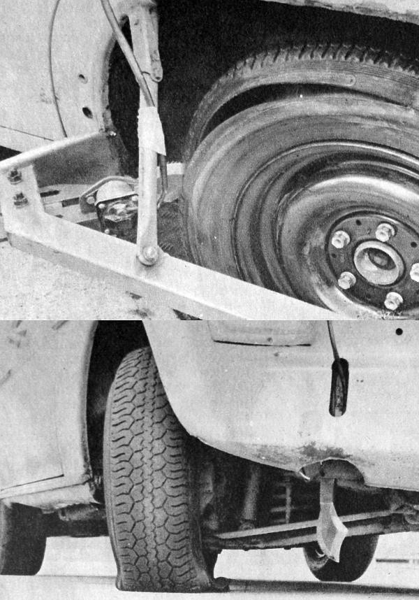 A 100 km/óra sebességgel haladó kocsi hátsó gumiját nyitotta meg egy legalább 25 centiméteres átvágással a kísérleti szerkezet pengéje. Ugyanilyen próbákat végezték a kocsi első kerekeinél is, de a különleges abroncs megakadályozta, hogy a levegő nélkül m