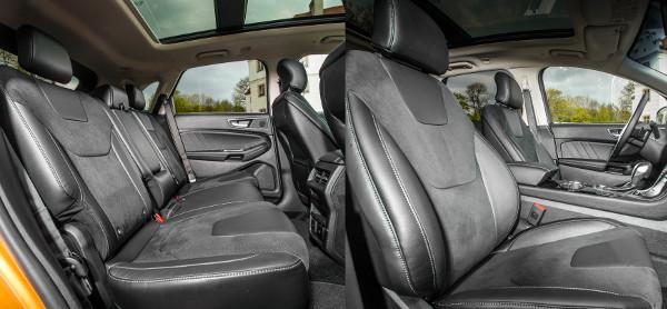Nagyon tágas az utastér, a hátsó üléstámla dőlésszöge állítható. Hátul 240 voltos csatlakozó is van a konzol végében, egyébként számos USB- és 12 voltos áramvételezési lehetőséget találunk
