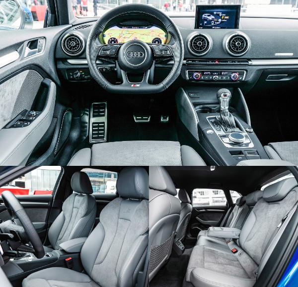 Újdonság a vetített kijelzős műszerfal és a vezeték nélküli telefontöltés. Kényelmes az A3-as, de a hátsó sorban nem bánik bőkezűen a hellyel. A Sportback és a Limousine tengelytávolsága nagyobb, mint a háromajtósé