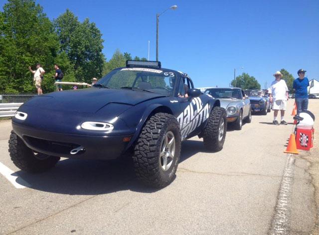 Az átalakított Mazda (Fotó: autoevolution.com)