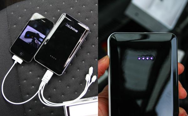 Az okostelefonok egyes alkalmazásokkal zabálják az áramot, újratöltésükre is megfelelő a mobilakku. A töltöttségi szintet LED-ek jelzik