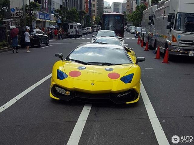 Így néz ki, mikor egy Lamborghini-tulaj túlságosan rákattan a Pokémonra (Fotó: carbuzz.com)