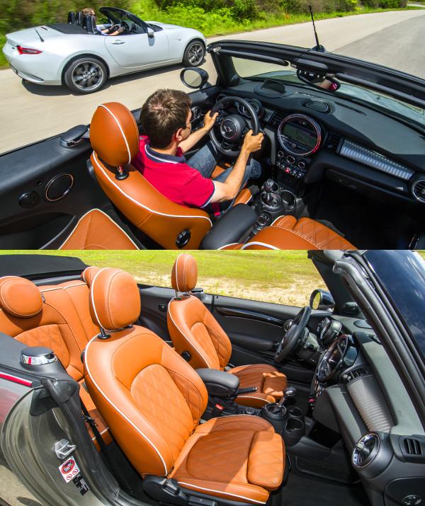 Ötletbörze a Cooper S-ben: sok a szerethető részlet, jobb a minőség. Mutatós a steppelt bőrkárpit, kicsi a lábtér, de hátul is el lehet férni