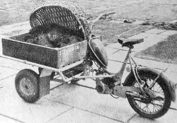 A svéd városokban 50 kcm-es Sachs-motorral szerelt kis háromkerekű járművekkel végzik a kisebb szállításokat