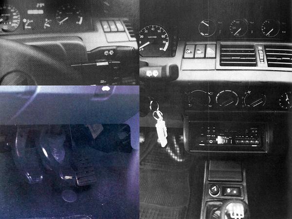"""A Cliónál a kormánykerék mellett karocskával lehet """"távvezérelni"""" a rádiót. A gázpedált a fékpedál felé megszélesítették, felkínálva a fék-gázfröccsös visszakapcsolást. A felső három kerek műszer mind a motorolajjal kapcsolatos. A szintjelző ("""