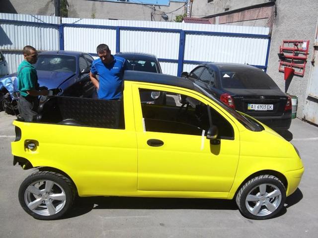 Megszületett a Matiz pick-up (Fotó: autoevolution.com)