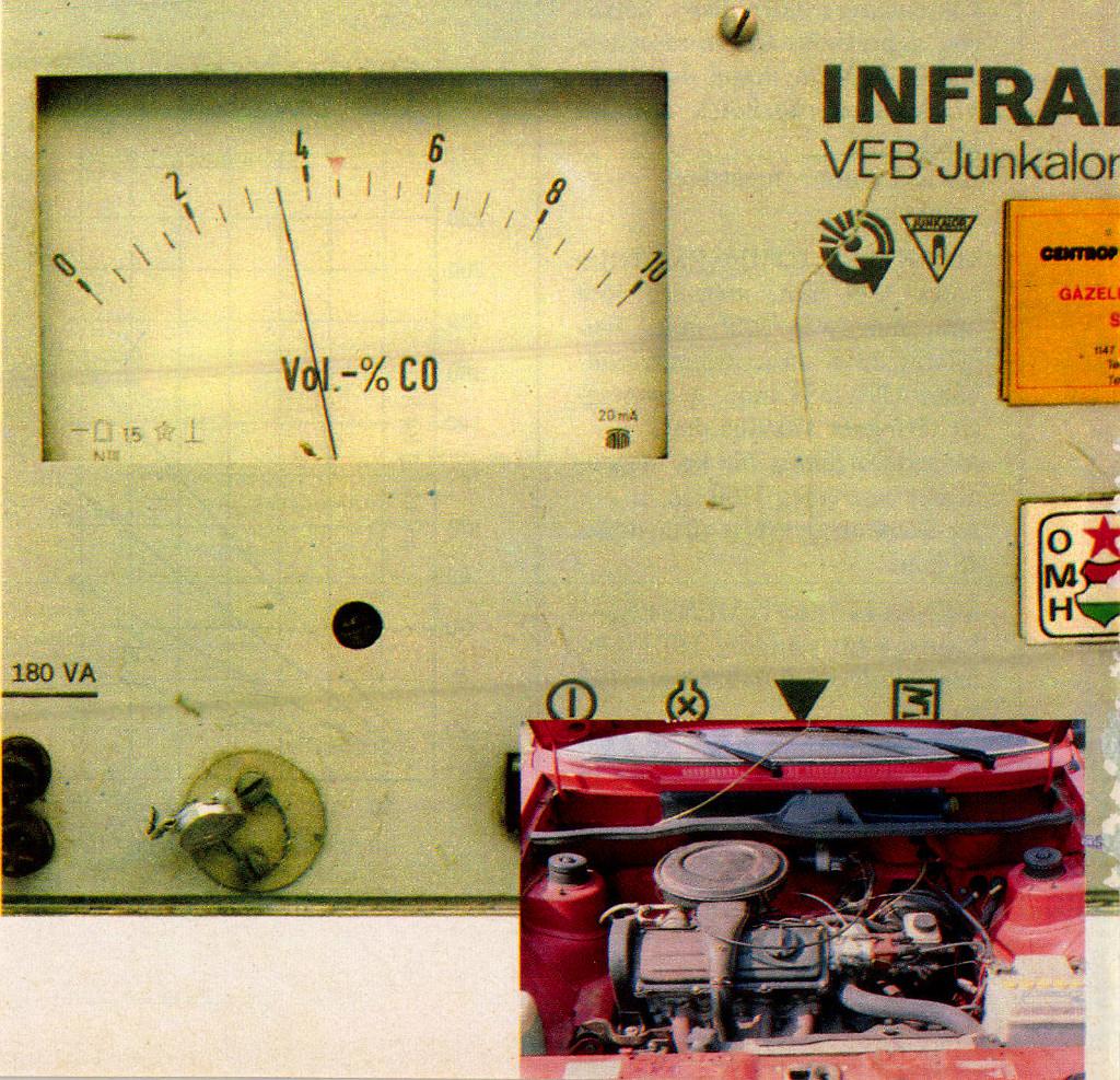 Gázadásra erős lendületet vett a CO-mérő mutatója, s végül a hármas fokozatjel mellett állapodott meg. Ha eltekintünk az olajfogyástól, nem okozott csalódást a 125 ezer kilométert futott motor sem