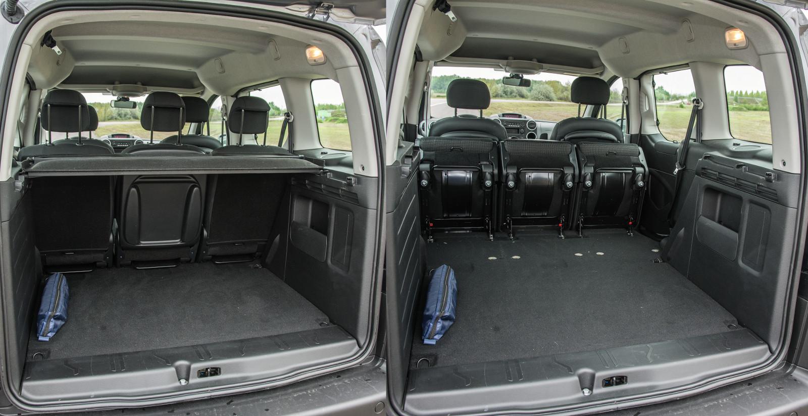 Alaphelyzetben is óriási a csomagtartó, az ülések előrebillenthetők és kivehetők
