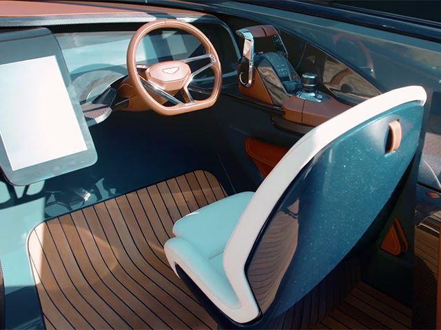 """Így néz ki az Aston Martin """"extraluxus"""" hajója (Fotó: carbuzz.com)"""