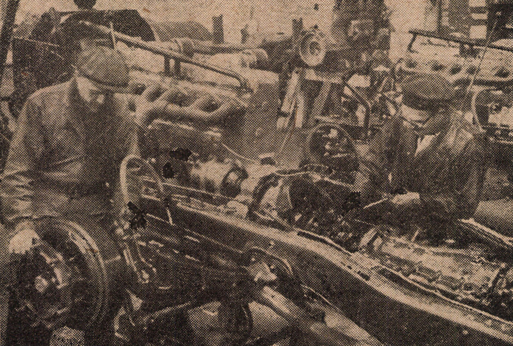 A motorszerelő műhely