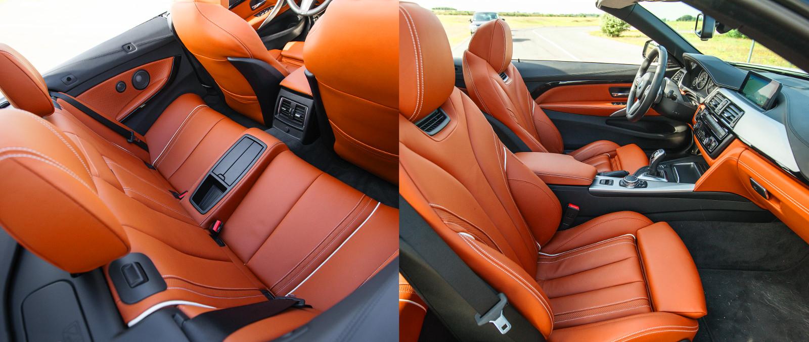 133 100 Ft a nyakfűtés felára. A klasszikus műszeregység és a vaskos kormány hozza a tipikus BMW-hangulatot. Hátul jelképes a hely. Fotó: Hilbert Péter