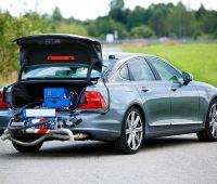 Emissionstest durch PEMS am Volvo S90