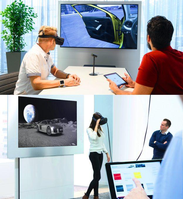 Hála a virtuális valóságnak, 3D-ben konfigurálható a beltér és a karosszéria megjelenése is. A környezet szabadon választható