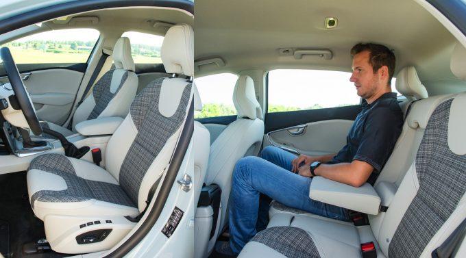 A helykínálat átlagos, de az első ülések kényelmével kilóg a kategóriából a Volvo