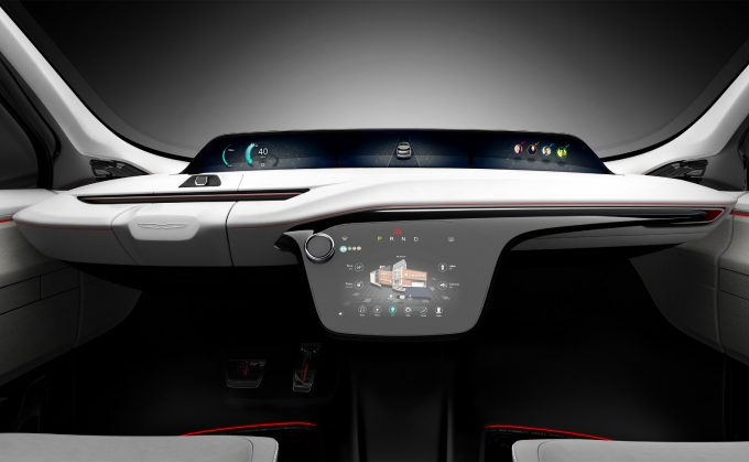 Chrysler Portal Concept high-mount display and instrument panel
