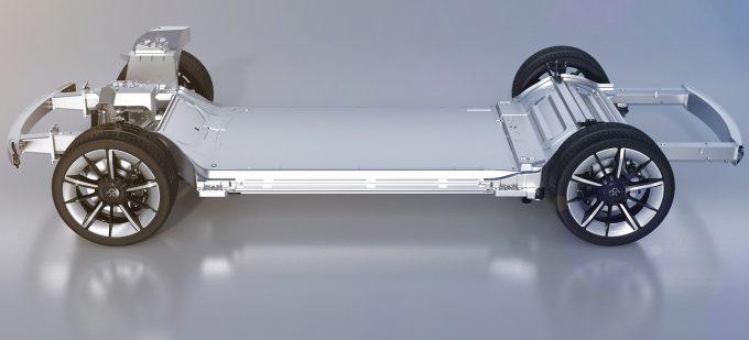 Az önhordó karosszéria egységes része az akkumulátorral - a felső rész felépítménytől függően változik