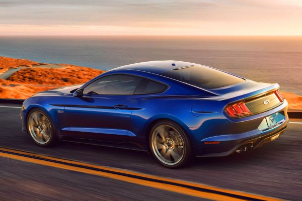 New Ford Mustang V8 GT with Performance Package in Kona Blue