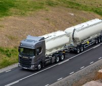 Scania R 730 6x2 bulk with drawbar trailerBorås, SwedenPhoto: Dan Boman 2016