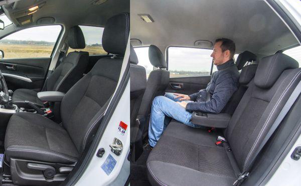 Az üléspozíció magas, a nagy üvegfelületek miatt jó a körkilátás Korrekt a helykínálat, hátulra is jutott könyöklő