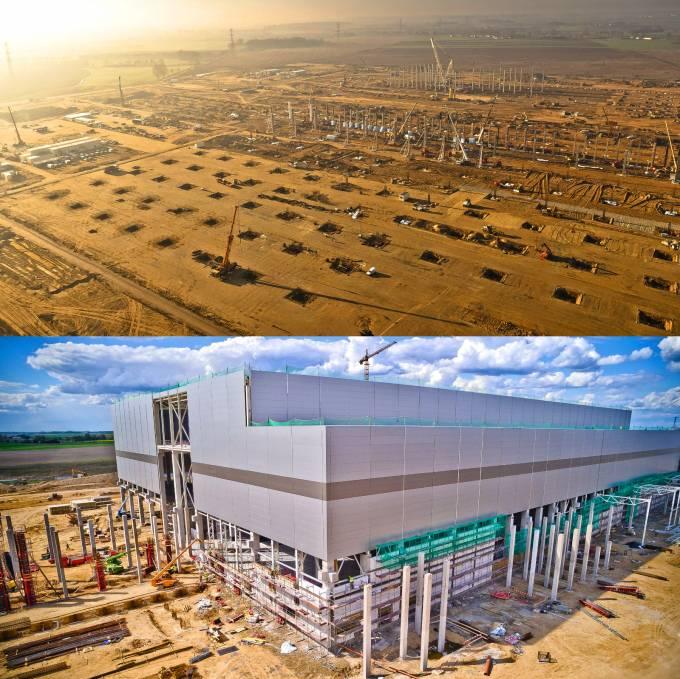 50 ezer m3 betont használtak fel a gyár felépítéséhez. A 4000 tartóoszlop mindegyikét 16 méter mélyre fúrták le a talajba