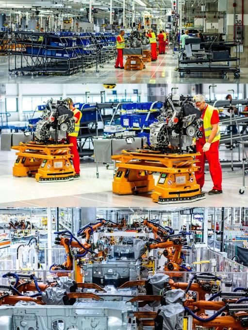 Három műszakban termel az üzem, naponta 380 Crafter és TGE hagyja el a gyártósort. A dízelmotorok összeszerelése Salzgitterben folyik, onnan készen érkeznek Wrzesniába. Új generációs Kuka robotokat alkalmaz a VW a karosszériahegesztő részlegnél