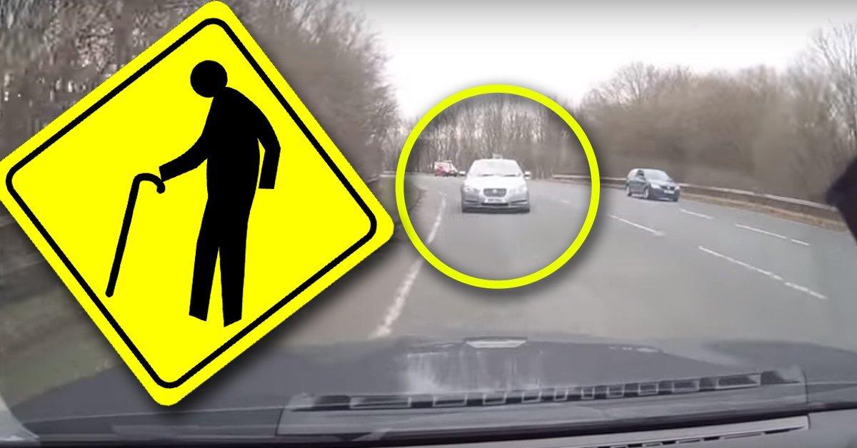 A bácsi úgy összezavarodott, kis híján megölt valakit az úton – VIDEÓ