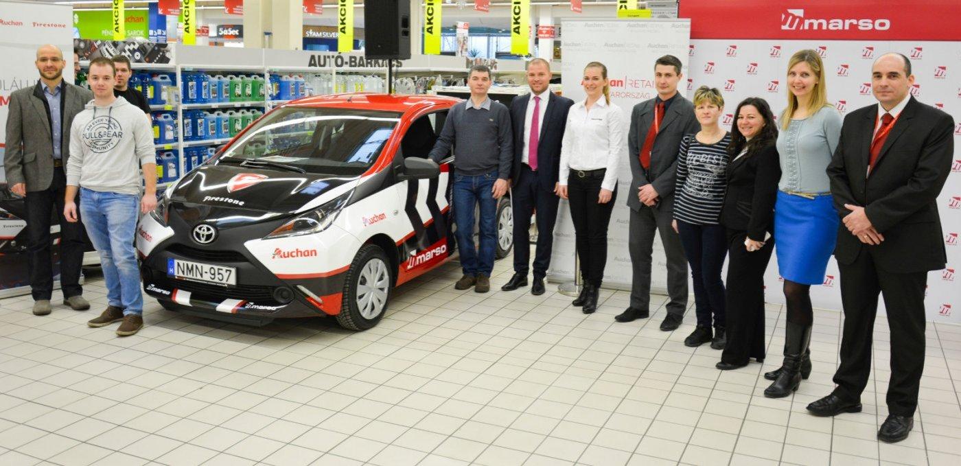 02e571ef3304 A MARSO Kft. a Bridgestone Magyarország Kft.-vel és az Auchan Magyarország  Kft.-vel karöltve szervezte meg azt a vásárlás ösztönző nyereményjátékot,  ...
